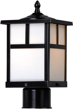 "12""H Coldwater 1-Light Outdoor Pole/Post Lantern Black"