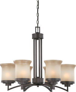 "26""W Harmony 6-Light Chandelier Dark Chocolate Bronze"