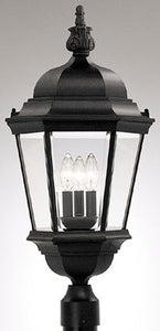 Designers Fountain Abbington Outdoor Post Lantern Black 2956BK