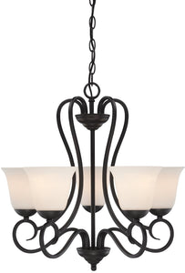 Designers Fountain Addison 5-Light Chandelier Oil Rubbed Bronze 85285-ORB