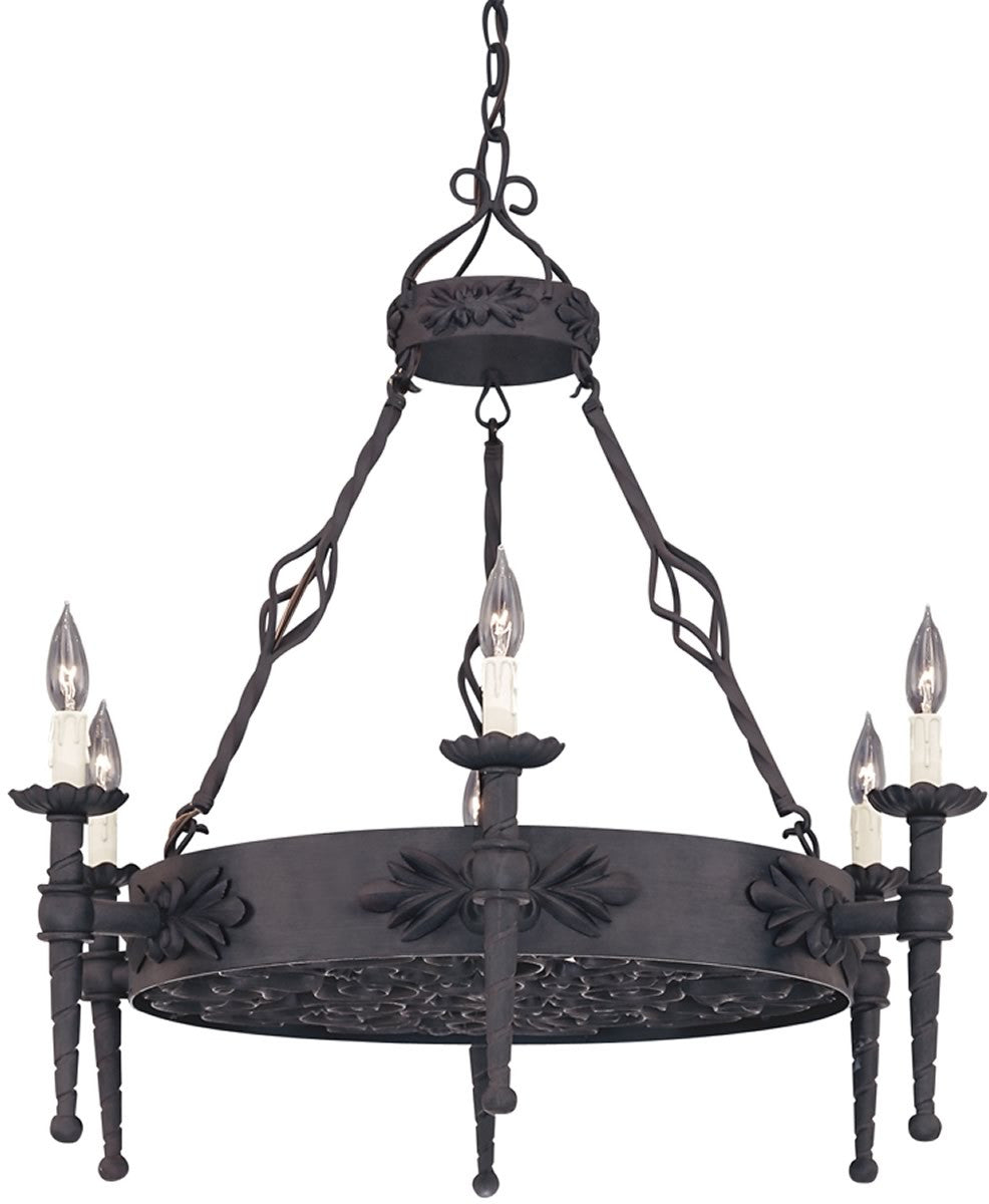 "32""W Alhambra 6-Light Pendant Natural Iron"