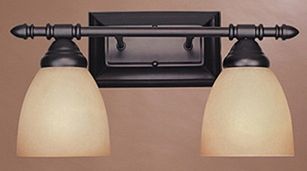 "16""w Apollo 2-Light Bath Sconce Oil Rubbed Bronze"