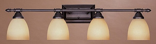 "31""W Apollo 4-Light Bath Strip Oil Rubbed Bronze"