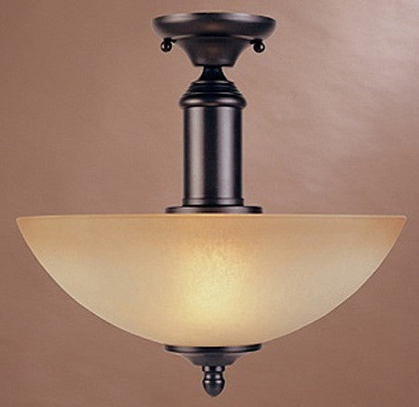 "13""W Apollo Semi Flush Mount Oil Rubbed Bronze"
