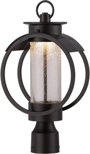 Designers Fountain 17 inchw ArborPost Lantern Burnished Bronze LED32826BNB