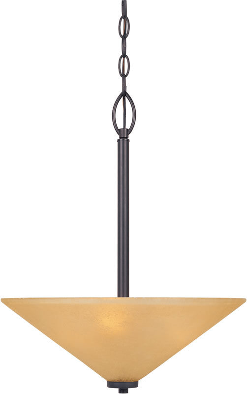 "16""w Arcadia 3-Light Pendant Oil Rubbed Bronze"