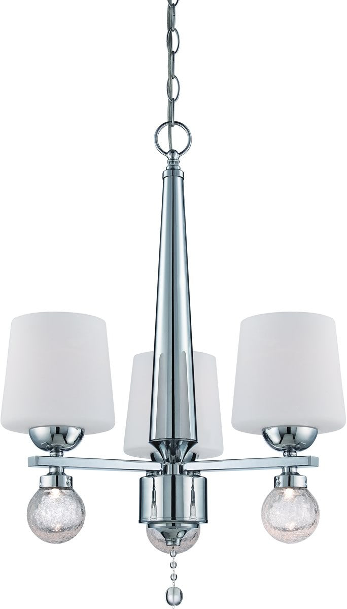 "20""w Astoria 3-Light Chandelier Chrome"