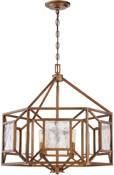 "25""W Athina 6-Light Chandelier Gilded Bronze"