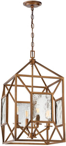 Athina 4-Light Pendant Gilded Bronze