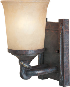 Designers Fountain 5 inchw Austin 1-Light Wall Lantern Weathered Saddle 97301WSD