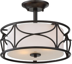 Avara 2-Light Semi Flush Mount Oil Rubbed Bronze
