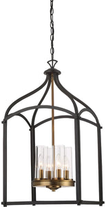 Designers Fountain Avondale 4-Light Chandelier Oil Rubbed Bronze 87654-ORB