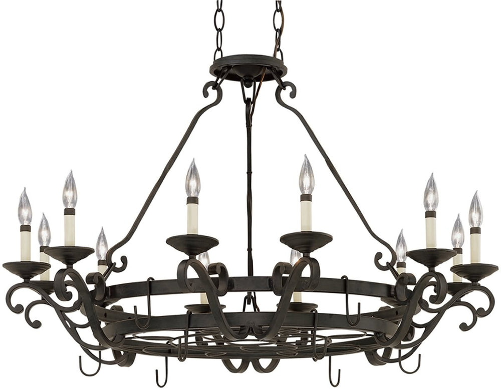 "42""W Barcelona 12-Light Chandelier Natural Iron"
