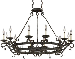 Designers Fountain Barcelona 12-Light Chandelier Natural Iron 9031-NI