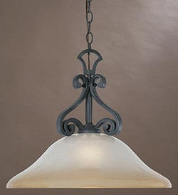Designers Fountain Barcelona 1-Light Down Pendant Natural Iron 96132NI