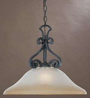 "18""W Barcelona 1-Light Down Pendant Natural Iron"