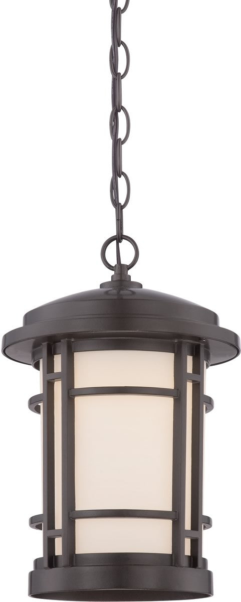"9""W Barrister Outdoor Hanging Lantern Burnished Bronze"