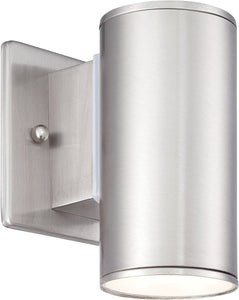 Designers Fountain 4 inchw BarrowWall Lantern Satin Platinum LED33001SP