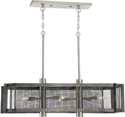 Designers Fountain Baxter 6-Light Pendant Weathered Iron 89338-WI
