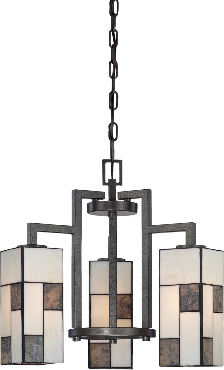 "18""w Bradley 3-Light Chandelier Charcoal"