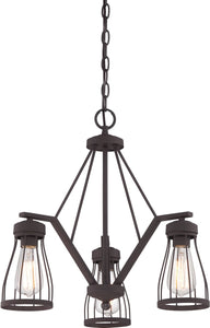 Designers Fountain 21 inchw Brooklyn 3-Light Chandelier Bronze 86883BZ