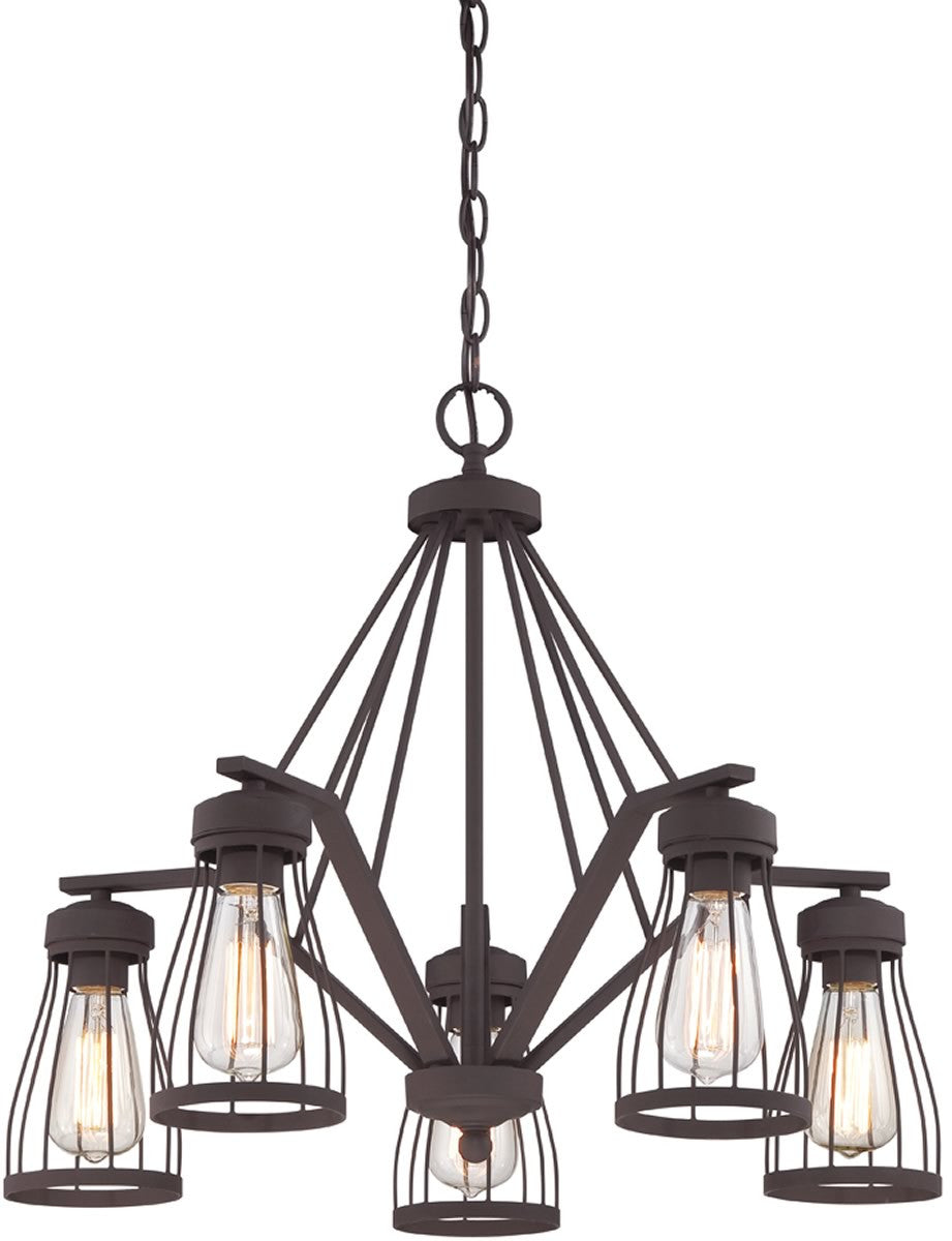 Brooklyn 5-Light Chandelier Bronze