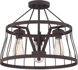 Designers Fountain Brooklyn 3-Light Semi Flush Mount Bronze 86811-BZ