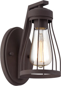 "4""w Brooklyn 1-Light Wall Lantern Bronze"
