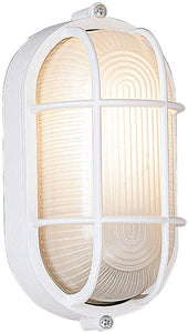 Designers Fountain Bulkhead 1-Light Outdoor Wall Light White 2071-WH