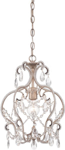 Designers Fountain 12 inchw Calla 1-Light Mini Chandelier Argent Silver 6203ARS