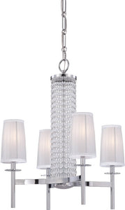 Designers Fountain Candence 4-Light Chandelier Chrome 83984CH