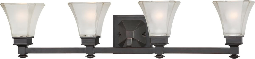 "34""W Canterbury 4-Light Bath Vanity Biscayne Bronze"