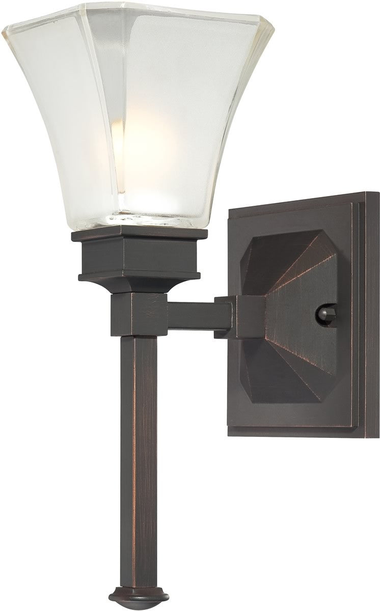 "7""w Canterbury 1-Light Wall Sconce Biscayne Bronze"