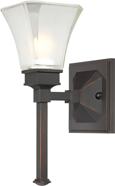 Designers Fountain Canterbury 1-Light Wall Sconce Biscayne Bronze 6661BBR