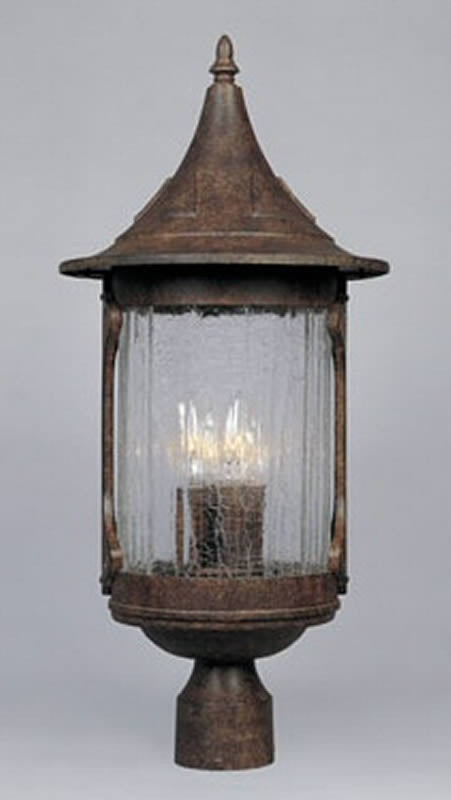 "24""H Canyon Lake 4-Light Outdoor Post Light Chestnut"