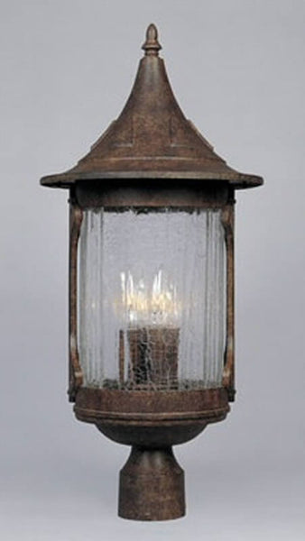 Designers Fountain Canyon Lake 4-Light Outdoor Post Light Chestnut 20936CHN