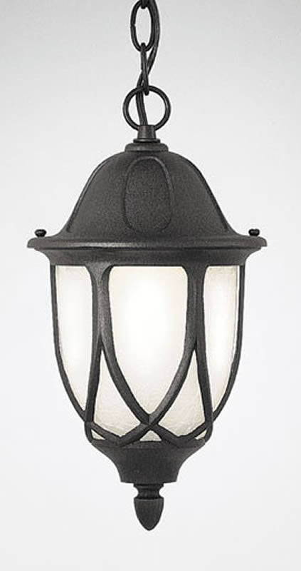 "11""W Capella 1-Light Hanging Outdoor Lantern Black"