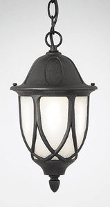 Designers Fountain Capella 1-Light Hanging Outdoor Lantern Black 2864BK