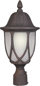 Designers Fountain 19 inchw Capella 1-Light Post Lantern Autumn Gold 2866AG