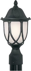 Designers Fountain 19 inchw Capella 1-Light Post Lantern Black 2866BK