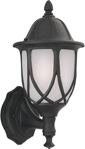 Designers Fountain 9 inchw Capella 1-Light Wall Lantern Black 2868BK