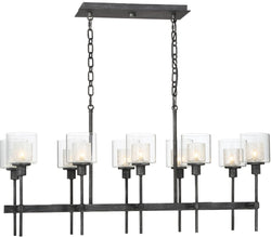 Designers Fountain Cazadero 10-Light Pendant Weathered Pewter 89138-WP