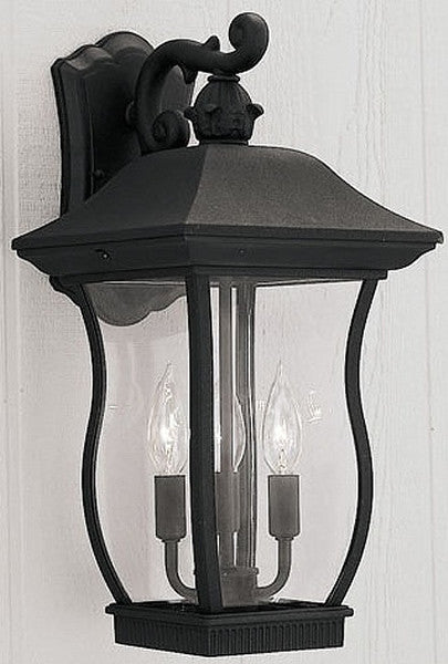 "19""h Chelsea Outdoor Wall Lantern Black"