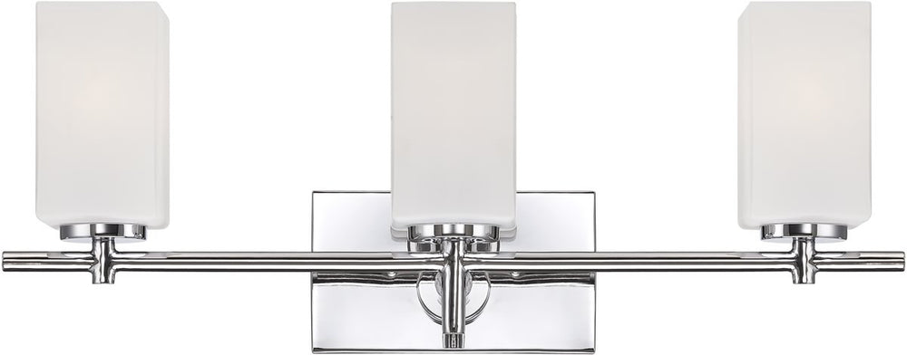 "24""w Dakota 3-Light Bath Vanity Chrome"