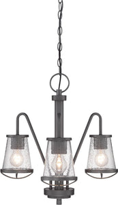 "18""w Darby 3-Light Chandelier Weathered Iron"