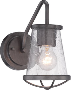 Designers Fountain 5 inchw Darby 1-Light Wall Lantern Weathered Iron 87001WI