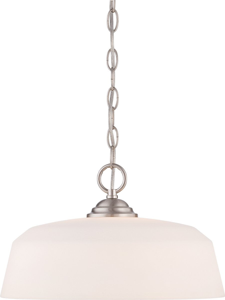 "16""W Darcy 1-Light Pendant Brushed"