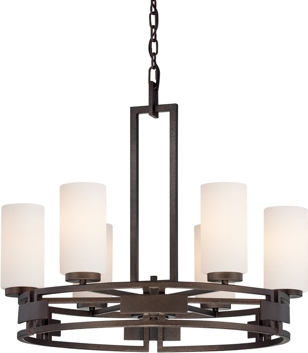 "28""w Del Ray 6-Light Chandelier Flemish Bronze"