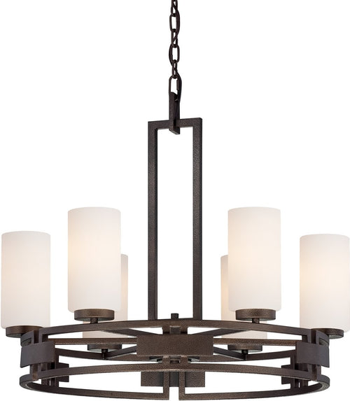 Designers Fountain Del Ray 6-Light Chandelier Flemish Bronze 83886FBZ