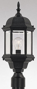 Designers Fountain Devonshire Outdoor Post Lantern Black 2976BK
